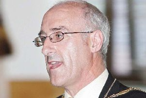 Nigel Hamilton during his term of office as mayor of Newtownabbey in 2007/08
