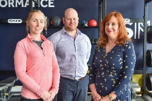 Niamh Maguire, Dr Alan Rankin and Kathy McVeigh at the new centre
