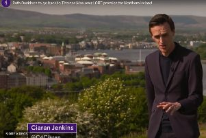 Ch4 news clip filmed in Londonderry about Westminster's role in promoting gay rights in NI. Shown on Friday, it was headlined: 'Lyra McKee's friends feel 'worthless' after Northern Ireland Office spends just �318 on LGBT rights'