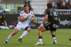 Ulster's Louis Ludik in action against Glasgow Warriors during the Guinness PRO14 semi-final at Scotstoun