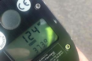 The speed of 124mph was recorded.  Picture: PSNI