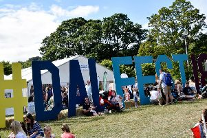 Festive scenes at last years action-packed Dalriada Festival