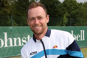 Peter Bothwell, winner of The Johnston Campbell North of Ireland Open Mens Championship Singles at  Downshire Tennis Club. Picture by Freddie Parkinson