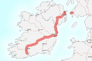 A map of Cork - Dublin - Belfast - Stranraer taken from the EU European Commission Innovation and Networks Executive Agency (INEA) document