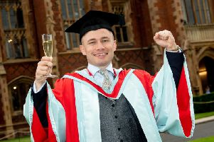 Boxer Carl Frampton MBE received his Doctor of the University (DUni) for distinction in sport.