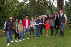 Eight top-performing travel agents from China, India, Qatar and the United Arab Emirates are enjoying an action-packed visit around Northern Ireland and the island of Ireland. They are pictured at the Galgorm Spa and Golf Resort with Mark Rodgers, tour guide (right) and Tori Henry, Tourism Ireland (fifth, left)