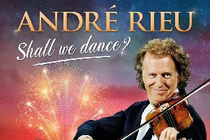 Dance in Mossley Mill's Civic Square with Andre Rieu on screen