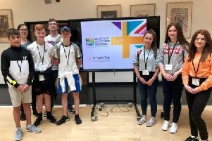 Ballymena Academy students who took part in a prestigious event hosted by world-renowned physicist Brian Cox.