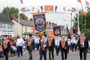 Gilford District LOL No 13 pictured at the Twelfth parade in Donaghcloney in 2018.