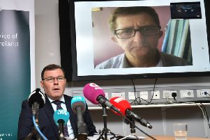 DCI Pete Montgomery at a press conference appealing for information on Pat McCormick's murder