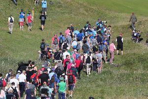 Crowds of golf fans flocked to Royal Portrush to take in the practice days