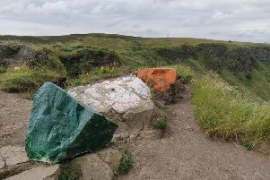 Councillor Dale Pankhurst has slammed those responsible for painting the tricolour on Cave Hill, noting that it is council property used by people from across the community.