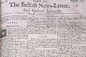 From the Belfast News Letter of July 10 1739 (July 21 in the modern calendar)