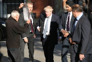 Conservative party leadership contender Boris Johnson arrives at his office in Westminster. Photo credit: Yui Mok/PA Wire