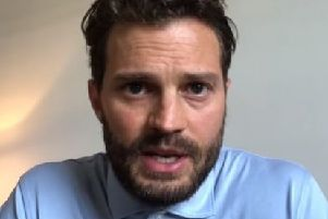 A still from Jamie Dornan's video on the NI Pancreatic Cancer Facebook page