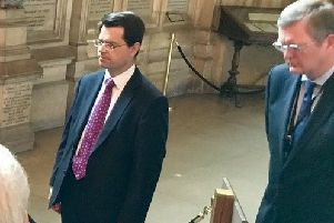 Lord Caine works behind the scenes so is rarely pictured but here is, on the right, at Westminster in 2017 with James Brokenshire for a ceremony to remember William Redmond, the Irish nationalist who was killed fighting in the Great War
