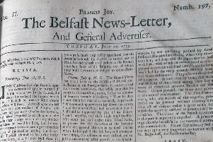 The Belfast News Letter of July 24 1739 (which is August 4 in the modern calendar)