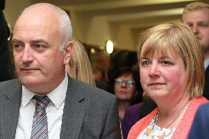 DUP MLA Trevor Clarke and his wife councillor Linda Clarke
