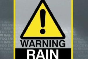 The heavy rain weather warning remains active until 12:00am on Saturday.