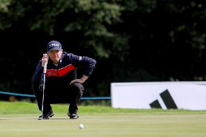 Michael Hoey during the first round of the World Invitational Golf event at Galgorm Castle on Thursday