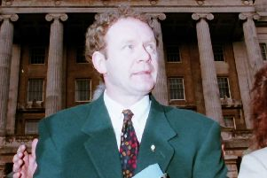 Martin McGuinness after the second round of talks on December 19 1994