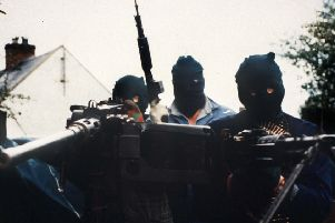 IRA members pictured with heavy weapons in south Armagh in 1989