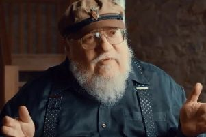 A screen grab from the new Tourism Ireland video featuring author George R.R Martin.