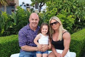 Dave Fox and Emma Gormley pictured with their four year daughter, Farrah.