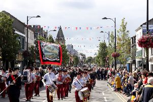 Up to 28 bands and a similar number of preceptories took part in the Royal Black Parade in Holywood, Co Down, on Saturday. 'Photo: Laura Davison/Pacemaker Press