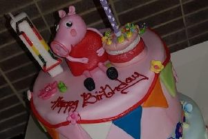 The cake which was paid for by a Co Down dad to mark what would have been his daughter's first birthday