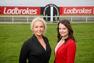 Pictured marking the new partnership (l-r) is Emma Meehan, Chief Executive of Down Royal Racecourse and Nicola McGeady, Head of PR at Ladbrokes.