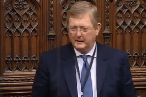 Former Northern Ireland Office adviser Lord Caine speaking in the House of Lords on Monday night