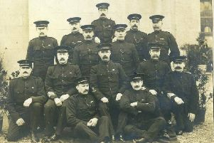Members of the Royal Irish Constabularly pictured in the early 1900s