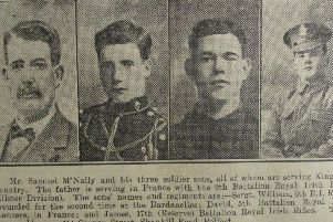Samuel McNally and his sons William, David and James