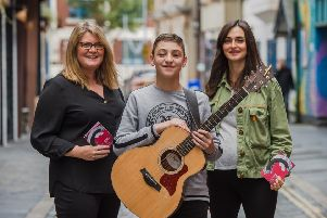 The Voice Kids contestant Conor Marcus launches the Sound of Belfast programme for 2019 with Charlotte Dryden and Charlene Hegarty
