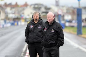 North West 200 Event Director Mervyn Whyte MBE with Stanleigh Murray, Clerk of the Course (left).