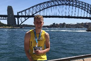 Peter Phillips completed the Sydney Marathon in a time of four hours and 25 minutes