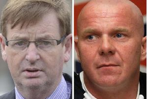 The late Willie Frazer (left) and U.D.A. leader, Johnny Adair.