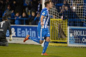 Ben Doherty netted his third goal in a week with a brace against Warrenpoint Town