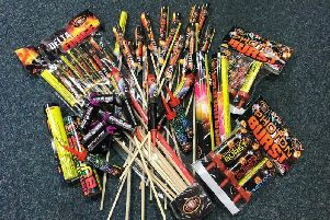Some of the fireworks seized in Ardboe