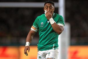 Ireland's Bundee Aki will miss the rest of the World Cup following his red card against Samoa
