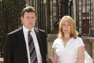 Colin Worton, pictured with his wife Barbara outside Belfast High Court.