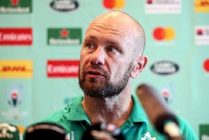 Ireland scrum coach Greg Feek.