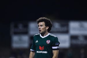 Derry City skipper, Barry McNamee gave the visitors a 2-1 lead with an excellent strike in the first half.