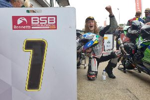 Korie McGreevy won the Pirelli National Superstock 600 Championship at Brands Hatch.