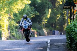 John McGuinness on the Japanese Mugen machine in the TT Zero race this year.