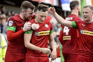 Cliftonville's Conor McDermott.