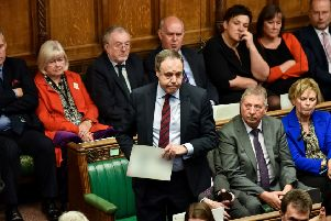 DUP MP Nigel Dodds in House of Commons on Saturday asks question of Boris Johnson, about him going back on his word