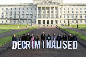 Pro-choice campaigners spelt out the new change in the law at Stormont yesterday