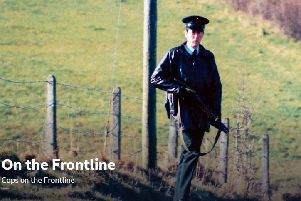 A still image of an RUC officer from the new BBC documentary Cops on the Frontline